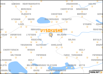 map of Vysokusha