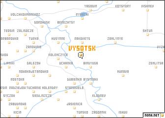 map of Vysotsk