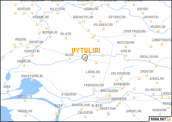 map of Vytūliai