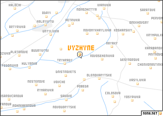 map of Vyzhyne