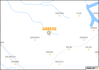 map of Wabéné