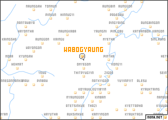 map of Wabogyaung