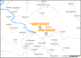 map of Wabyangon