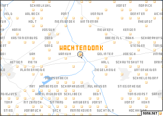 map of Wachtendonk