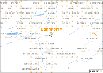 map of Wagneritz