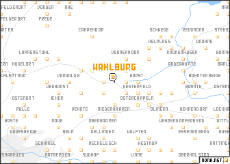 map of Wahlburg