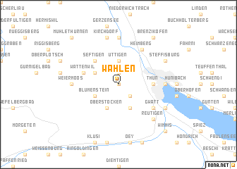 map of Wahlen