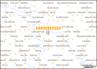 map of Wahnebergen