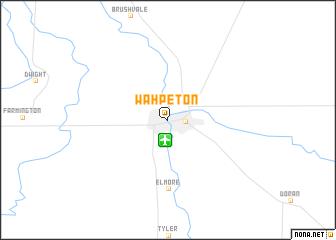 map of Wahpeton