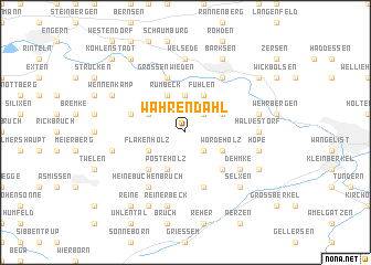 map of Wahrendahl