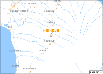 map of Waiakoa