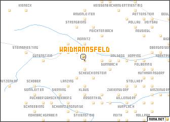 map of Waidmannsfeld
