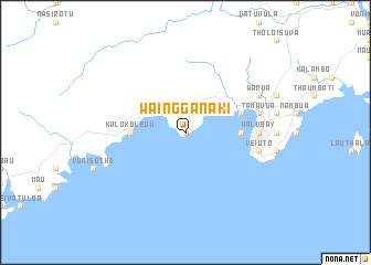 map of Waingganaki