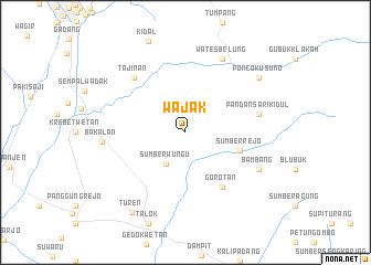 map of Wajak