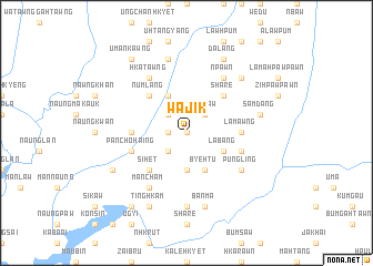 map of Wajik