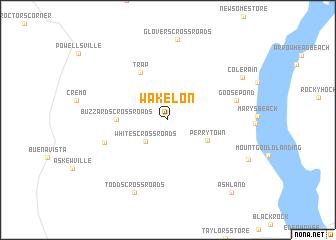 map of Wakelon