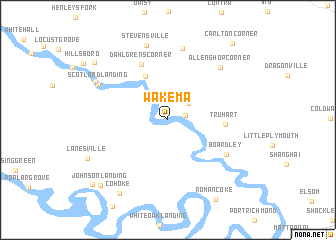 map of Wakema