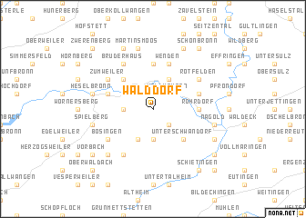 map of Walddorf