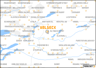 map of Waldeck