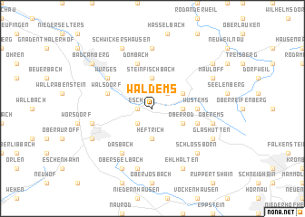 map of Waldems