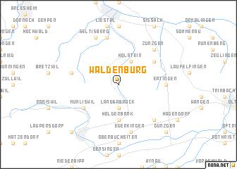 map of Waldenburg