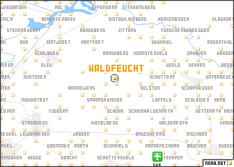 map of Waldfeucht