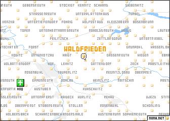 map of Waldfrieden