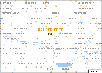 map of Waldfrieden