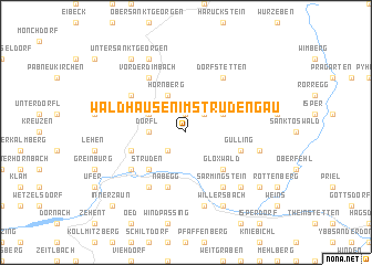 map of Waldhausen im Strudengau