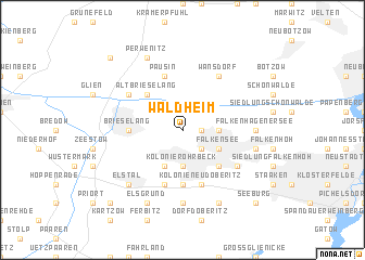 map of Waldheim