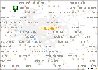 map of Waldheim