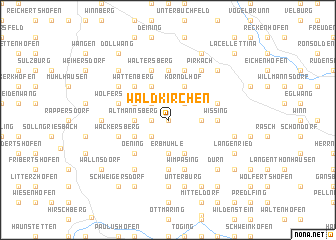 map of Waldkirchen