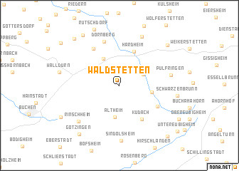 map of Waldstetten