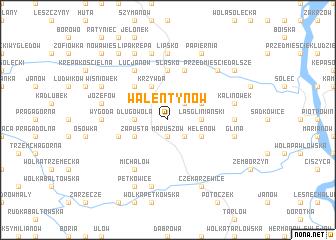 map of Walentynów