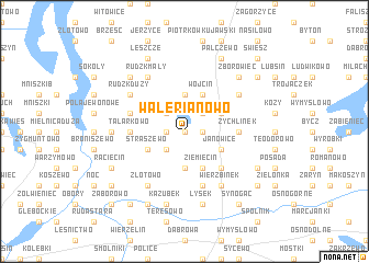 map of Walerianowo