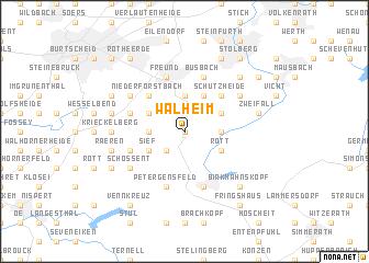map of Walheim
