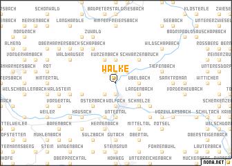 map of Walke