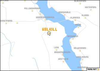 map of Walkill