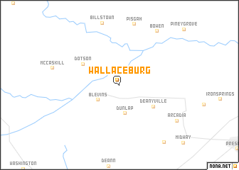 map of Wallaceburg