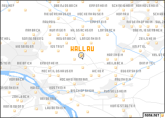 map of Wallau