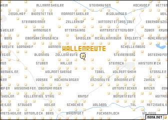 map of Wallenreute
