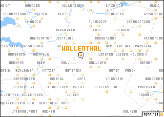 map of Wallenthal