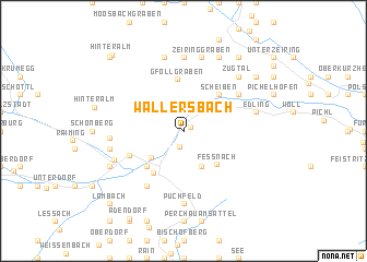 map of Wallersbach