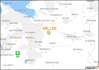map of Waller