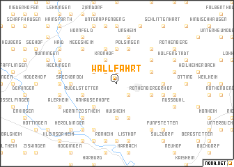 map of Wallfahrt