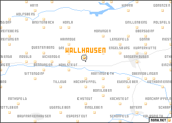 map of Wallhausen