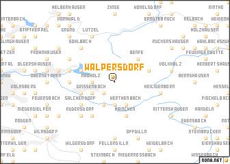 map of Walpersdorf