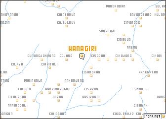 map of Wanagiri