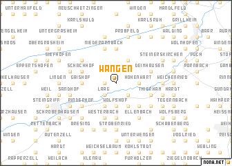 map of Wangen