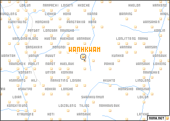 map of Wān Hkwam